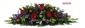 Mixed blooms funeral flowers