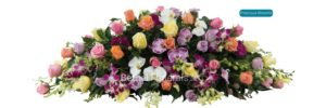 Precious blooms funeral flower arrangement