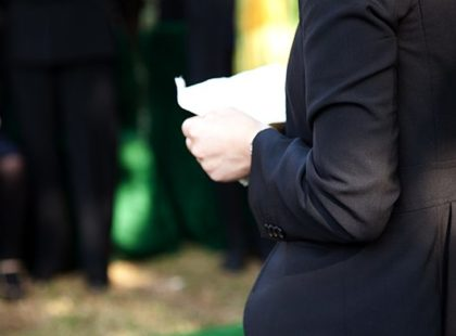 Etiquette at a funeral