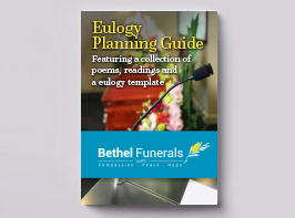 Eulogy planning guide cover