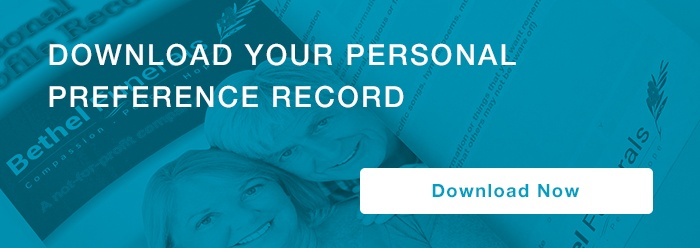 Download your personal preference record